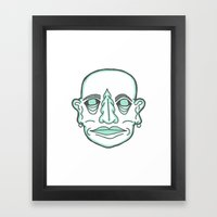 PUNK MONK Framed Art Print