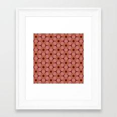 Pantone Cinnamon Flowers Framed Art Print