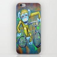 Bicycling Monkey iPhone & iPod Skin