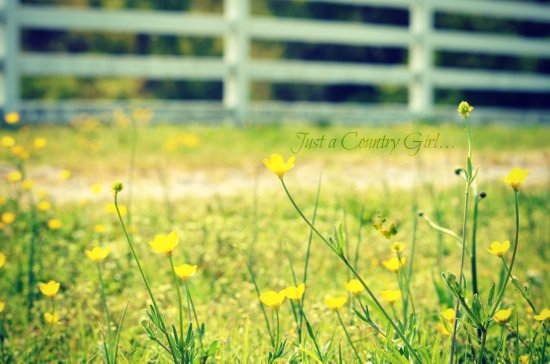Just a Country Girl... Art Print