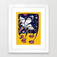 Let's talk about spaceships Framed Art Print