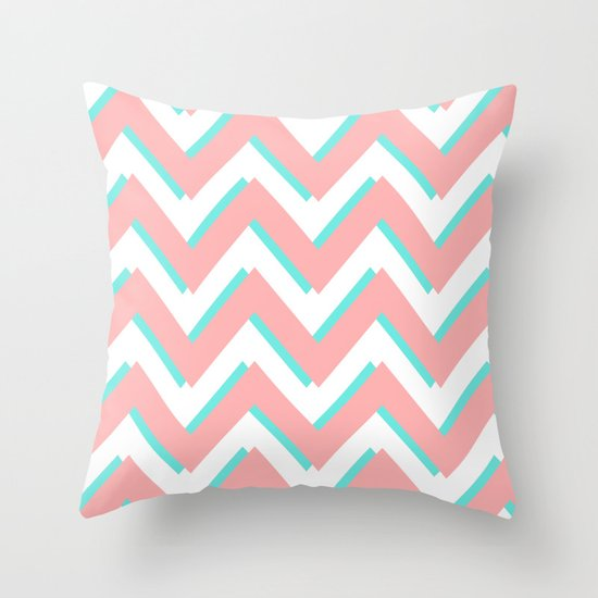 3D CHEVRON 3 Throw Pillow