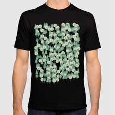 Geometric Woods SMALL Black Mens Fitted Tee
