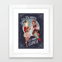 All the Single Ladies! Framed Art Print