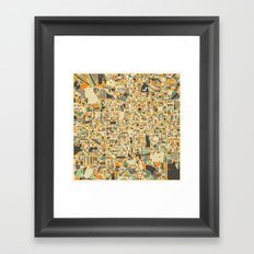 ATLANTA MAP Framed Art Print