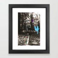A Touch of Color Framed Art Print