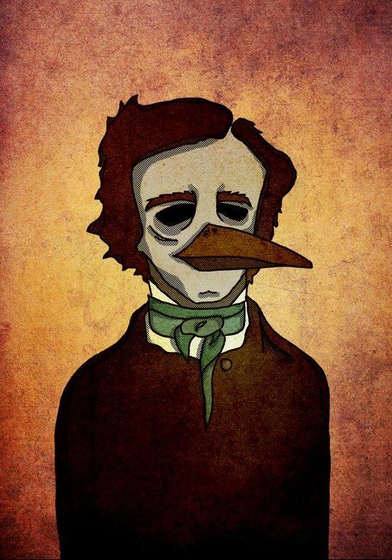 Prophets of Fiction - Edgar Allan Poe /The Raven Art Print
