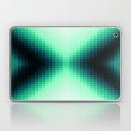 Midnight Blue & Mint Pix… Laptop & iPad Skin