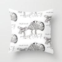 Clitocybe Brumalis // Hand Drawn Fungi Series Throw Pillow