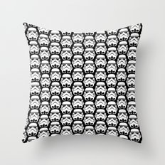 Stormtroopers on Black 2 Throw Pillow