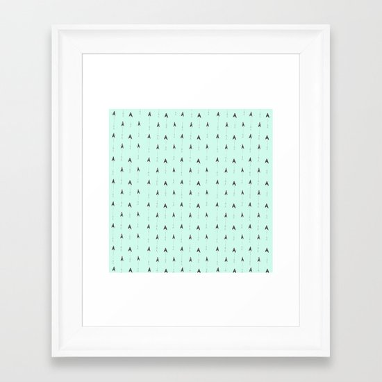 mint magic arrows Framed Art Print
