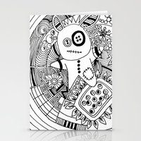 doodle buttons Stationery Cards