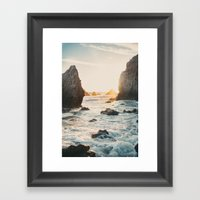 Sunset At El Matador Framed Art Print