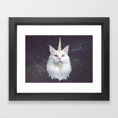 Unicorn Cat Framed Art Print