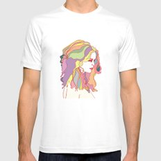 Big Hair day White Mens Fitted Tee SMALL