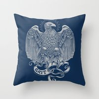 Grit Eagle Throw Pillow