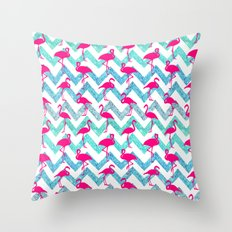 Go Flamingo! Throw Pillow