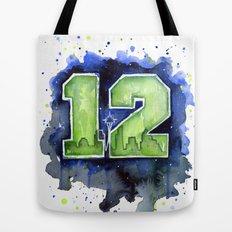 12th Man Seahawks Seattle Go Hawks Art Tote Bag