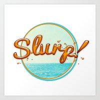 Summer Slurp! Art Print