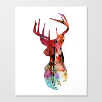 Deer Silhouette (in Colo… Canvas Print