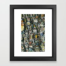 Dirty dishes Framed Art Print