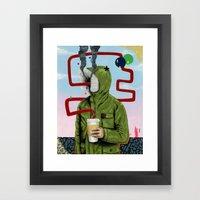 Caffeine Boost Framed Art Print