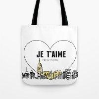 Je T'aime New York Tote Bag