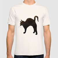 Cat Mens Fitted Tee Natural SMALL