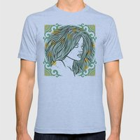 Mermaid Mens Fitted Tee Athletic Blue SMALL