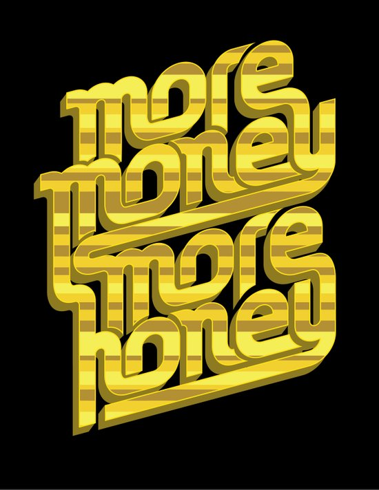 More Money, More Honey Canvas Print