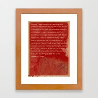 Catcher in the Rye Framed Art Print
