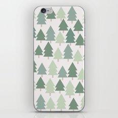 Pine Tree Pattern - California, Pacific Northwest, Portland, PDX, Seattle, Washington, Oregon iPhone & iPod Skin