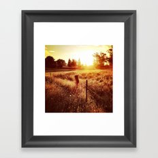 Exeter Sunset No. 1 (Color) Framed Art Print