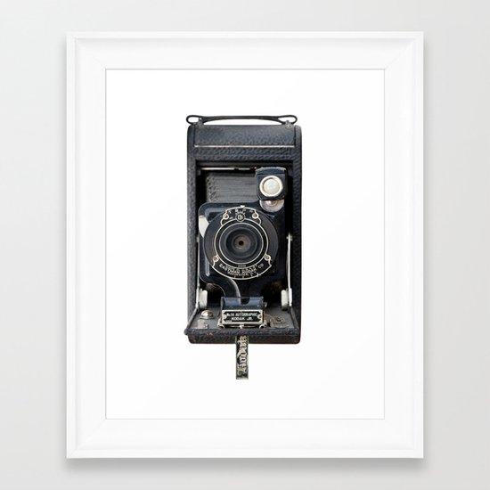 Vintage Autographic Kodak Jr. Camera Framed Art Print