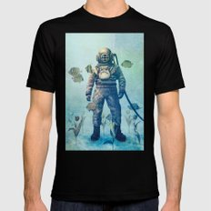 Deep Sea Garden  SMALL Mens Fitted Tee Black