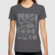 Useful Facts (On Black) Womens Fitted Tee Asphalt SMALL