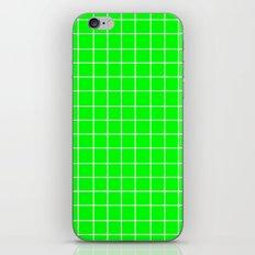 Grid (White/Green) iPhone & iPod Skin
