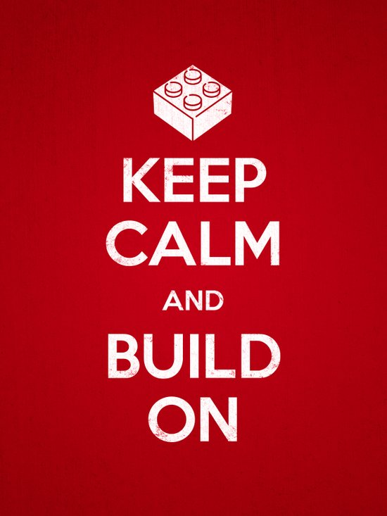 Keep Calm and Build On Canvas Print