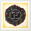 Shakespeare Alls Well if All Ends Well Art Print
