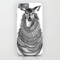 iPhone & iPod Case featuring Feathered Deer.  by Jess Polanshek