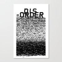 Dis-order Canvas Print