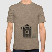 Box Camera Retro - Photo… Mens Fitted Tee Tri-Coffee SMALL