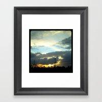 The Sun Peeking Through … Framed Art Print