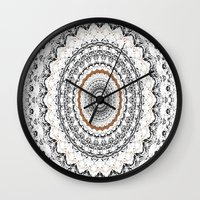 Black, Gold, And White Wall Clock