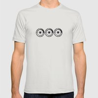 wheels 3x Mens Fitted Tee Silver SMALL