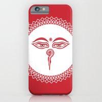 iPhone & iPod Case featuring Swayambhu Eyes by Dambar Thapa
