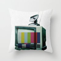 Tune In... Throw Pillow