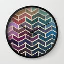Chevron iKat Wall Clock