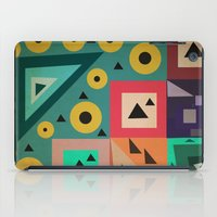 crazy triangles iPad Case