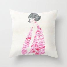 poppy girl Throw Pillow